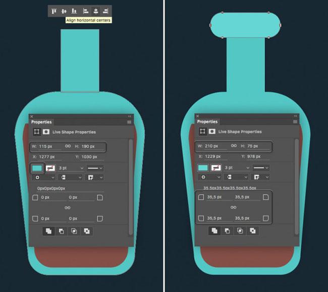PS设计一款海盗瓶子图标