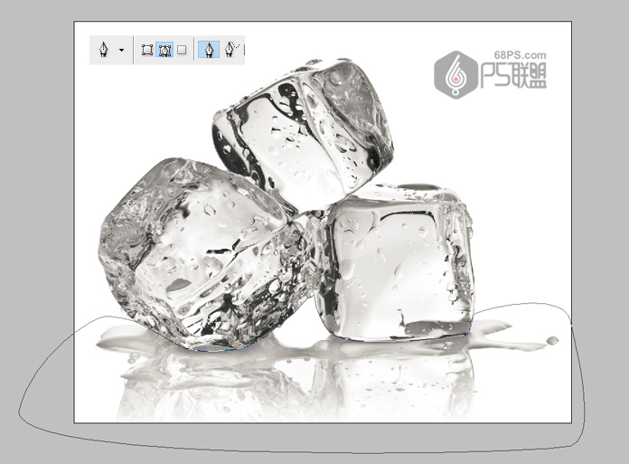 PS教你快速抠出透明的冰块-幂构社区