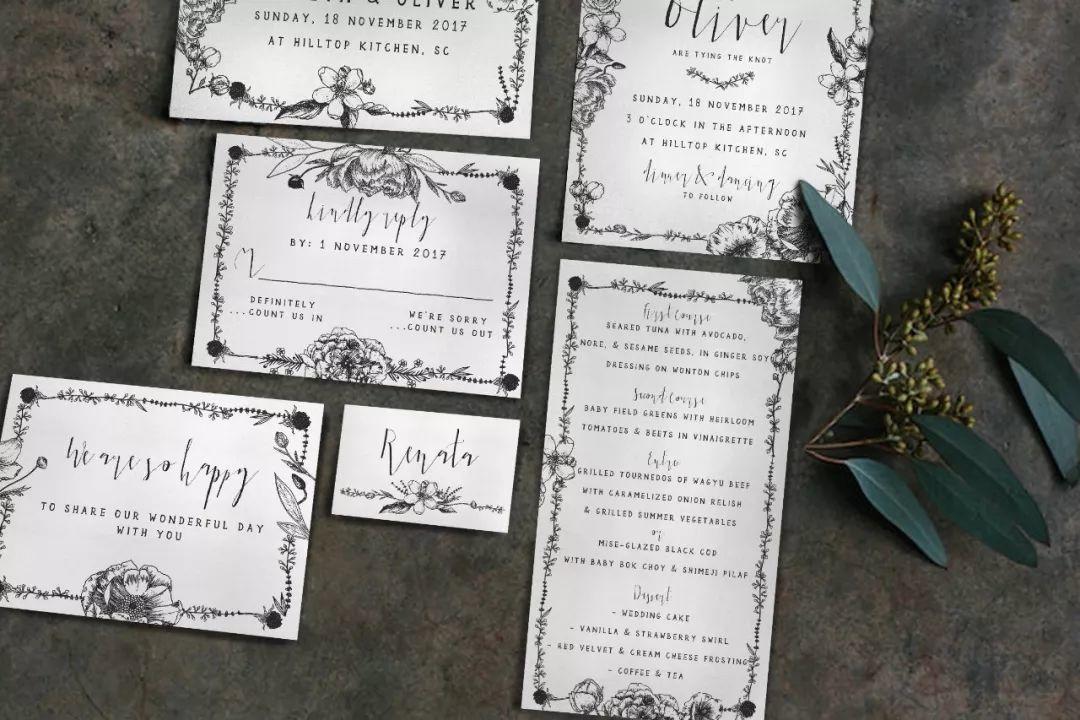 有点儿个性的婚礼请柬!