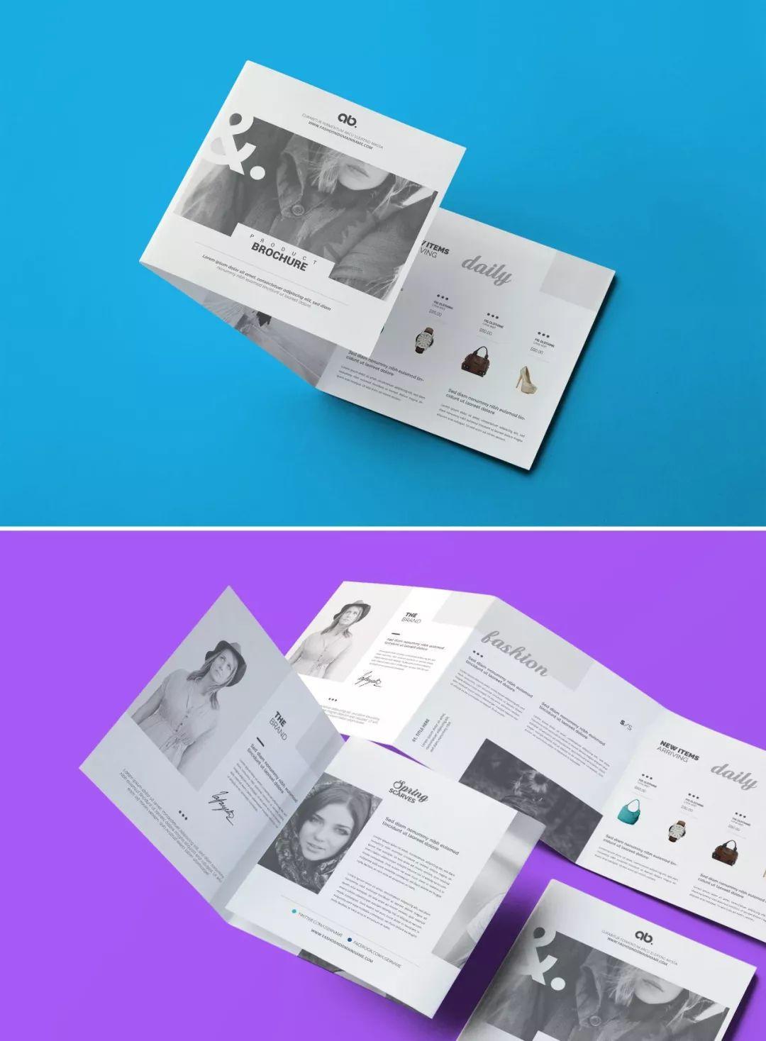 三折页设计欣赏!