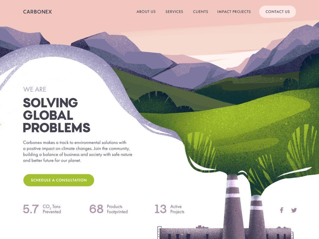 创意个性网站着陆页经典设计案例分享