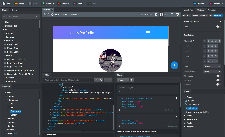 Bootstrap Studio 4.5.1 – 网页设计工具破解包